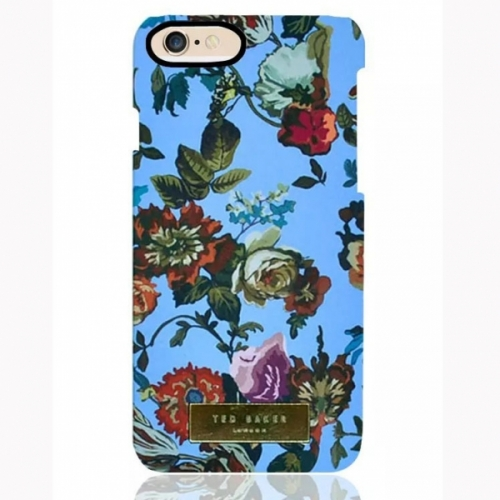 Пластиковый Чехол-накладка Ted Baker для iPhone 6 Цветы на синем