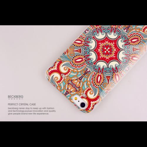 Пластиковый Чехол-накладка со стразами Beckberg для iPhone 6 Красный боб