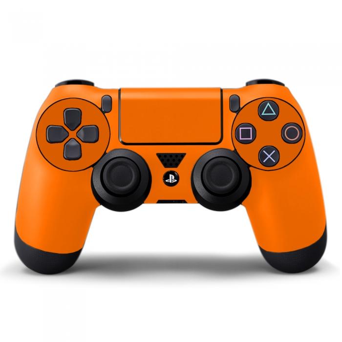 Наклейка на Dualshock 4 Monochrome Оrange Оранжевая (ps4)