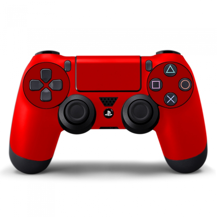 Наклейка на Dualshock 4 Monochrome Red Красная (ps4)