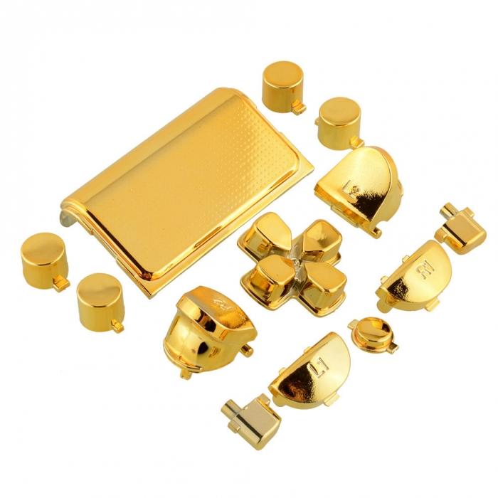 Набор кнопок для Dualshock 4 Chrome gold (Хромированные золотые) (ps4)