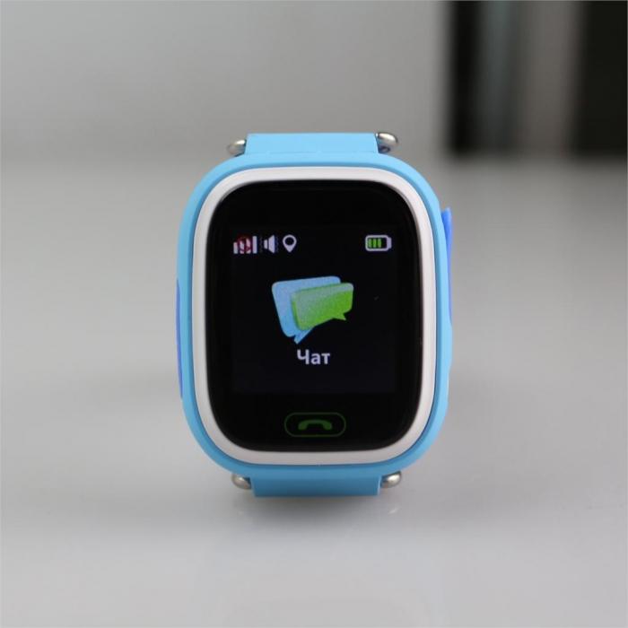 Умные Часы с GPS Smart Watch NIKY Q80 Blue Синие (Цветной и Сенсорный Дисплей)