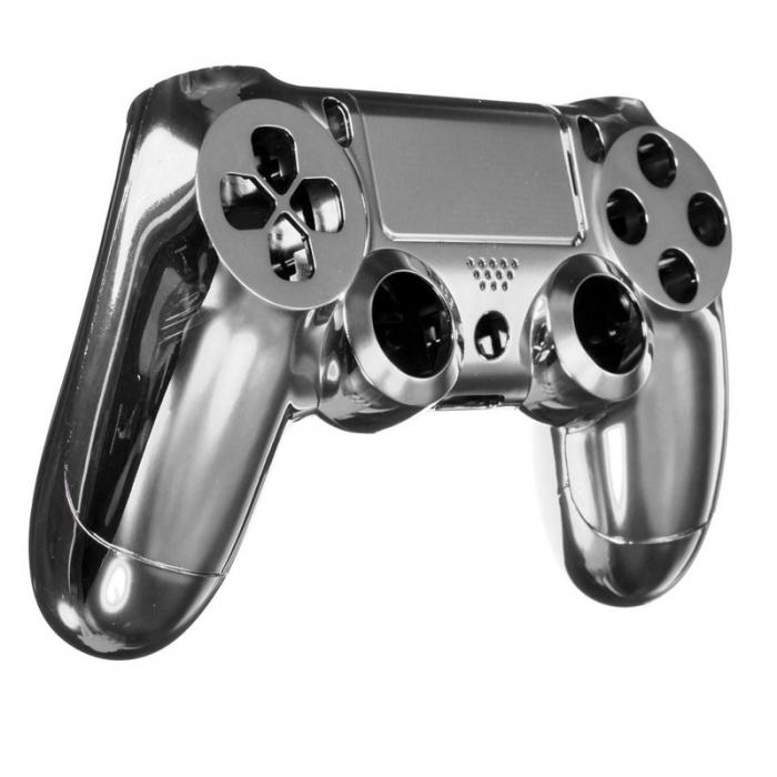 Комплект Корпус + Кнопки для Dualshock 4 Original Complete Chrome White (Хромированный Белый) (ps4)