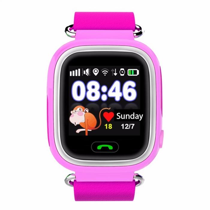 Умные Часы с GPS Smart Watch NIKY Q80 Pink Розовые (Цветной и Сенсорный Дисплей)