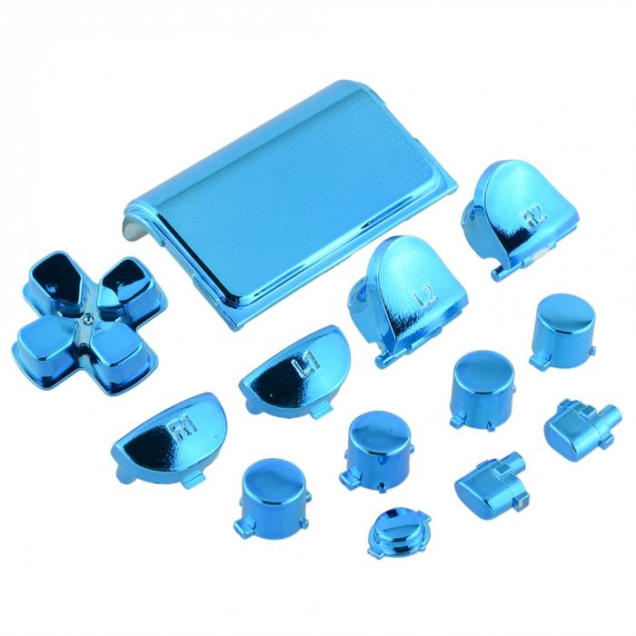 Набор кнопок для Dualshock 4 Original Chrome Blue (Хромированные Синие) (Playstation 4) (ps4)