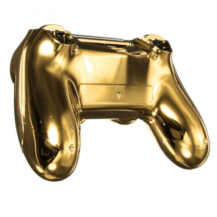 Комплект Корпус + Кнопки для Dualshock 4 Original Complete Chrome Gold (Хромированный Золотой) (ps4)