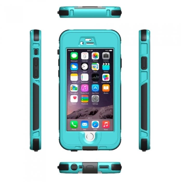 Водонепроницаемый и противоударный чехол Armor из ABS пластика для iPhone 6 (Голубой)