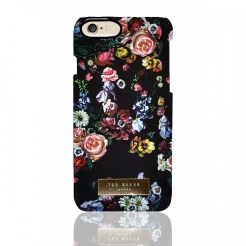 Пластиковый Чехол-накладка Ted Baker для iPhone 6 Цветы на черном