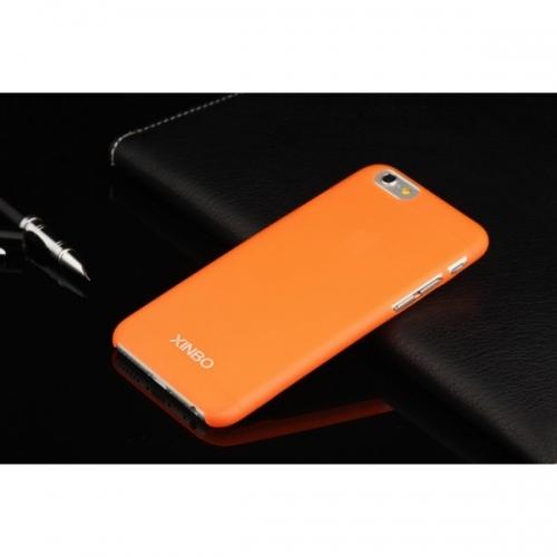 Пластиковый Чехол-накладка Xinbo 0,5 мм для iPhone 6 Оранжевый