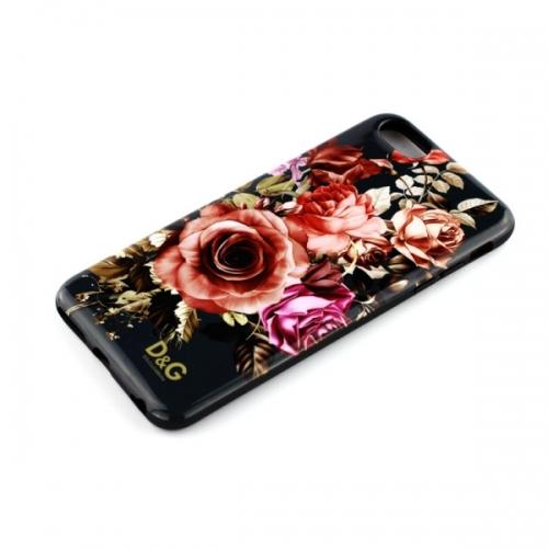 Силиконовый Чехол-накладка D&G для iPhone 6 Цветы