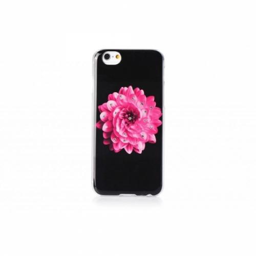 Пластиковый Чехол-накладка со стразами Beckberg для iPhone 6 Розовый цветок