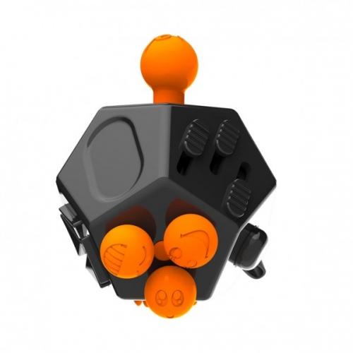 Антистресс кубик Fidget Cube Pro 2.0 12 граней питчер (Черный)
