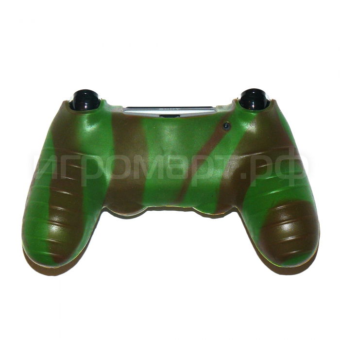 Чехол для Dualshock 4 Silicone Cover Camouflage Green зеленый силиконовый (ps4)