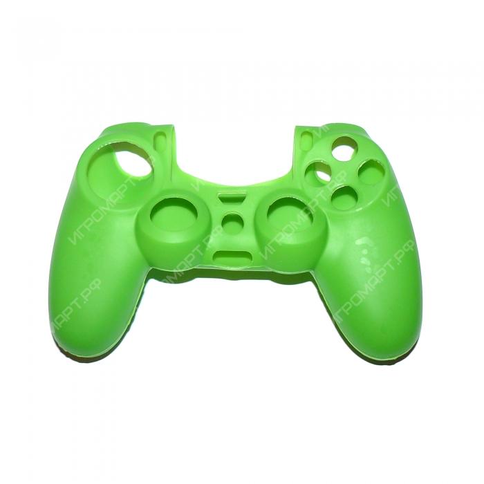 Чехол для Dualshock 4 Silicone Cover Green Зеленый силиконовый (ps4)