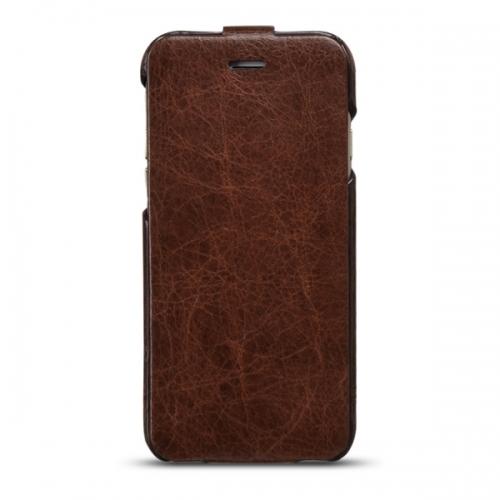 Чехол-флип из натуральной кожи Hoco для iPhone 6 Коричневый