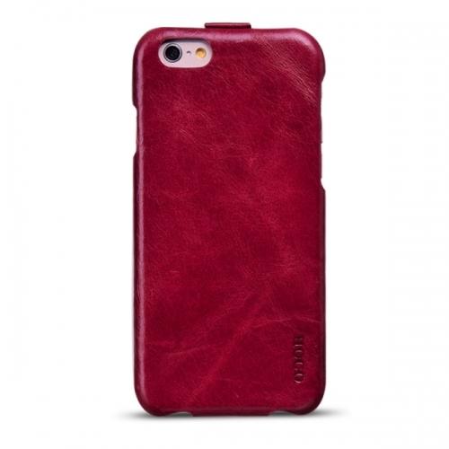 Чехол-флип из натуральной кожи Hoco для iPhone 6 Красный