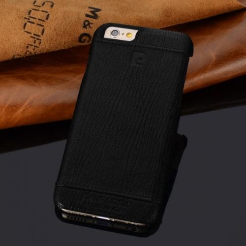 Чехол-накладка из натуральной кожи Pierre Cardin для iPhone 6 Черный