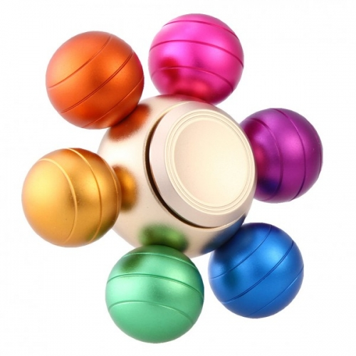 Spinner Спиннер крутилка металлический шестиконечный Шарики цветной