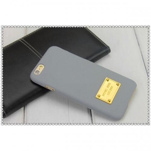 Пластиковый Чехол-накладка софттач Michael Kors для iPhone 6 Серый