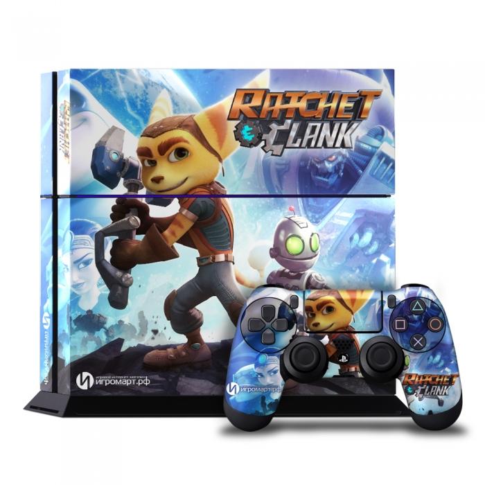 Ratchet & Clank - Наклейка на PlayStation 4 (ps4)
