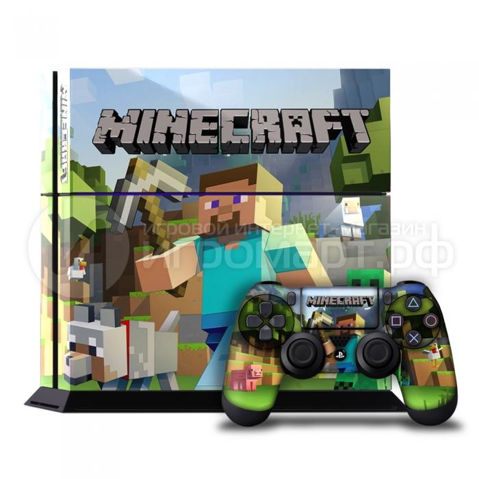 Minecraft - Наклейка на PlayStation 4 (ps4)