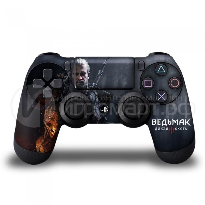 Ведьмак 3 Геральд - Наклейка на PlayStation 4 (ps4)