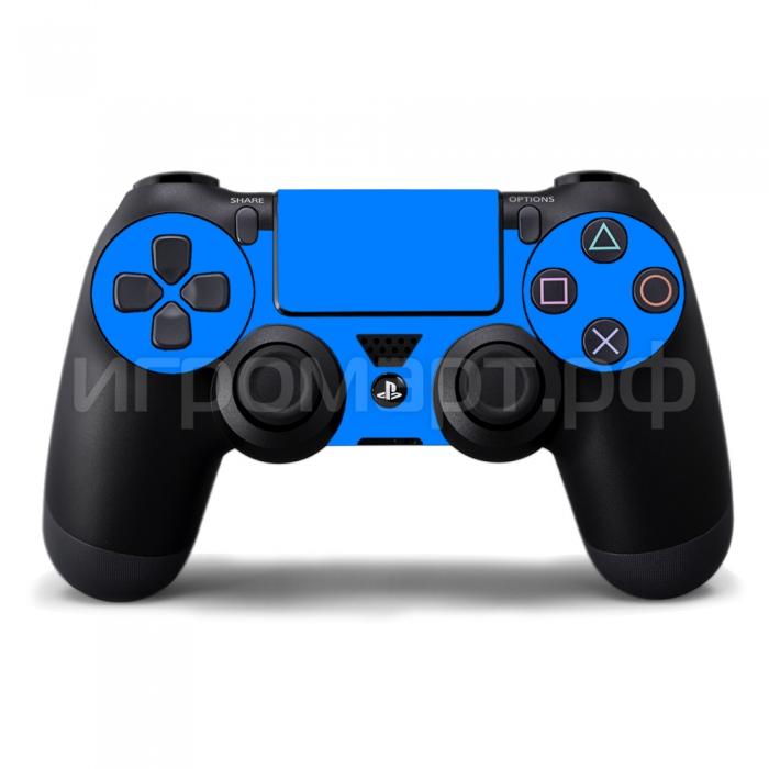 Наклейка на PlayStation 4 Monochrome Blue Синяя (ps4)