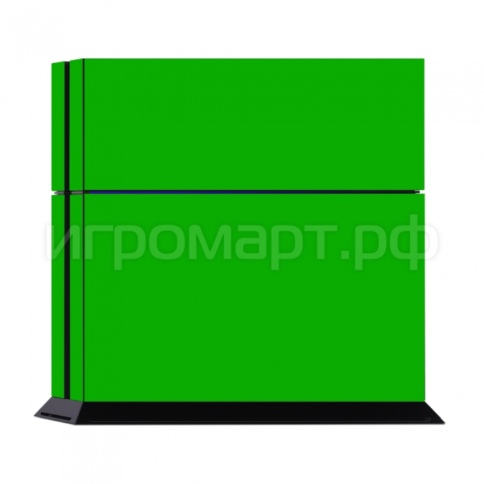 Наклейка на PlayStation 4 Monochrome Green Зеленая (ps4)