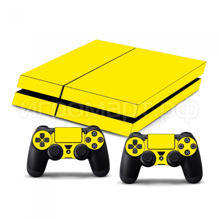 Наклейка на PlayStation 4 Monochrome Yellow Желтая (ps4)