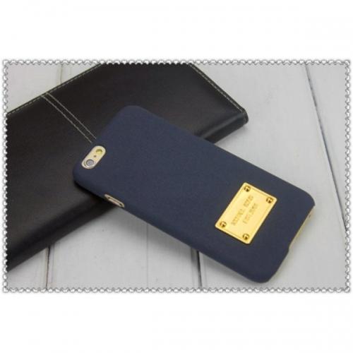 Пластиковый Чехол-накладка софттач Michael Kors для iPhone 6 Темно-синий