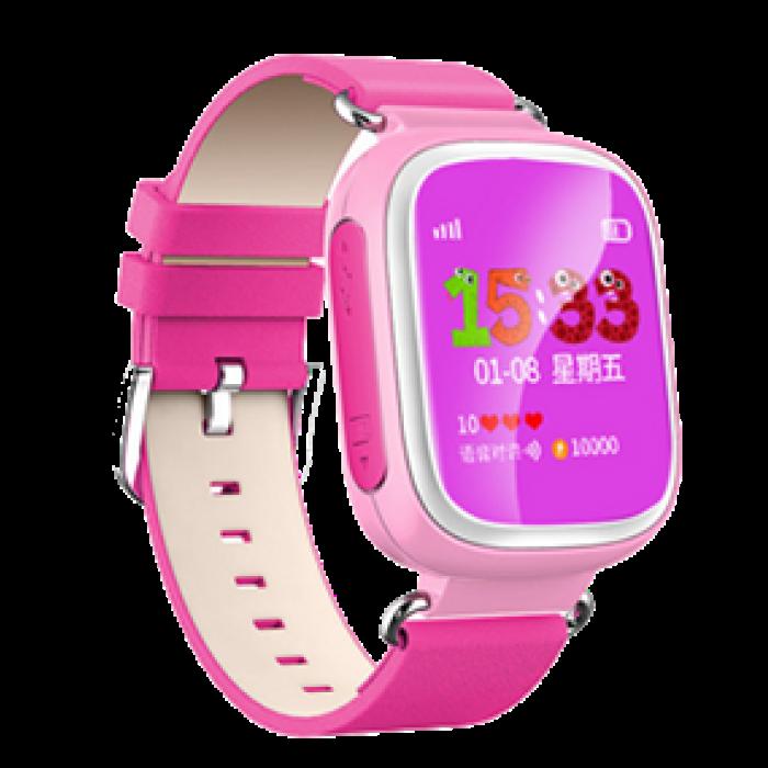 Умные Часы с GPS Smart Watch DIZY Q60s Pink Розовые (Цветной Дисплей)