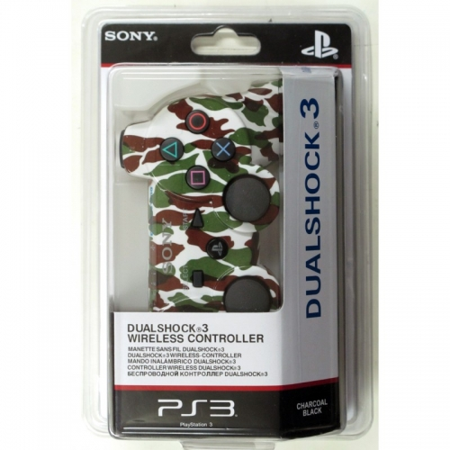 Беспроводной Геймпад Sony Dualshock 3 (ps3) (камуфляж White-Brown-Green) для PlayStation 3