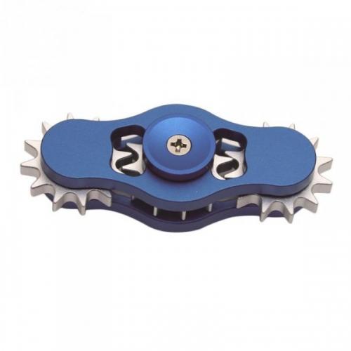 Spinner Спиннер крутилка алюминиевый шестеренка (Синий)