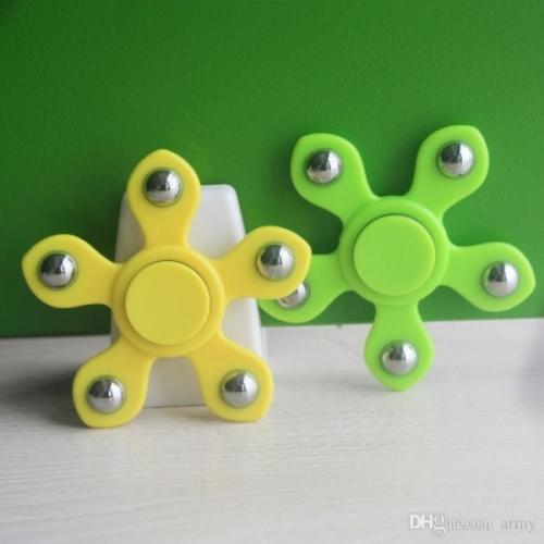 Spinner Спиннер крутилка цветок пять лучей со стальными шариками (Желтый)