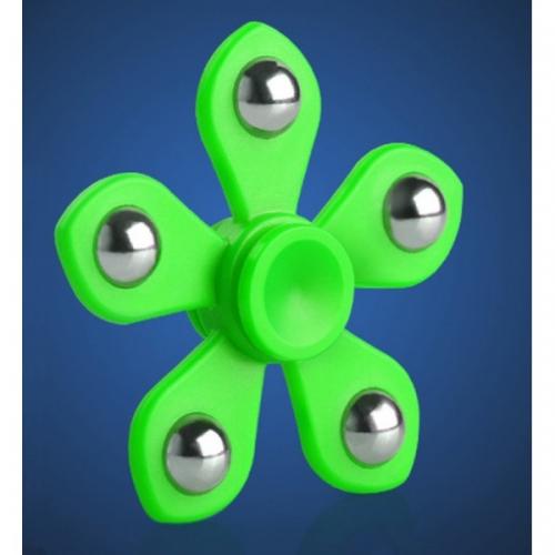 Spinner Спиннер крутилка цветок пять лучей со стальными шариками (Зеленый)