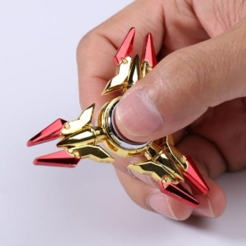 Spinner Спиннер крутилка треугольник металлический Легендарное оружие (Красный)