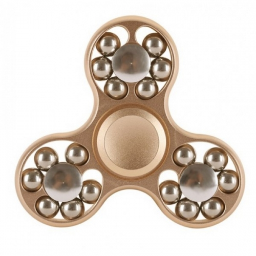 Spinner Спиннер крутилка треугольник металлический со стальными шариками (Золотистый)