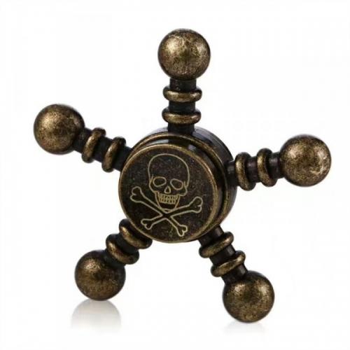 Spinner Спиннер крутилка металлический пятиконечный (Черный)