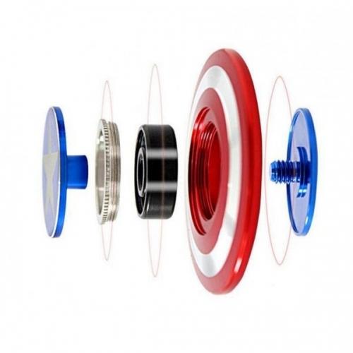 Spinner Спиннер крутилка металлический плоский щит Капитана Америка