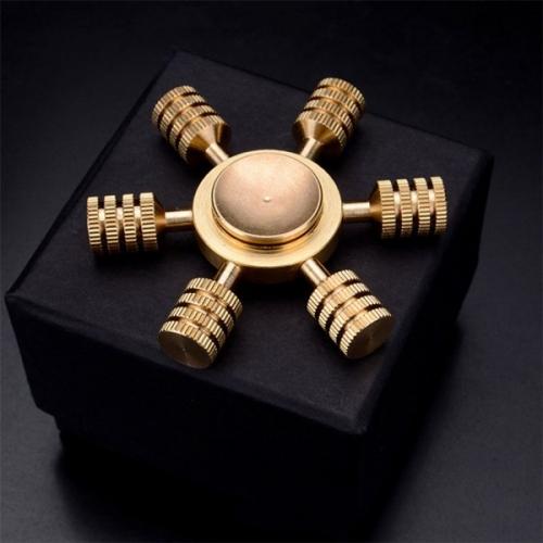 Spinner Спиннер крутилка металлический шестиконечный гайки (Золотой)