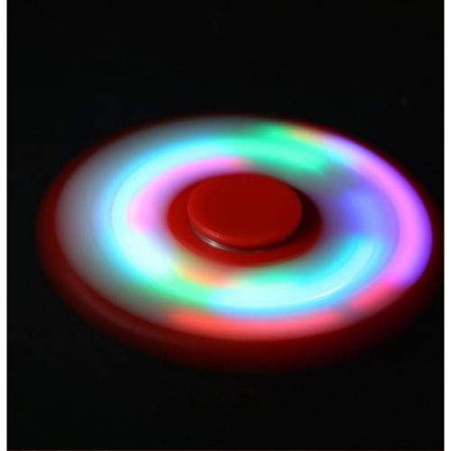 Спиннер с LED подсветкой светящийся плоская форма (Красный)