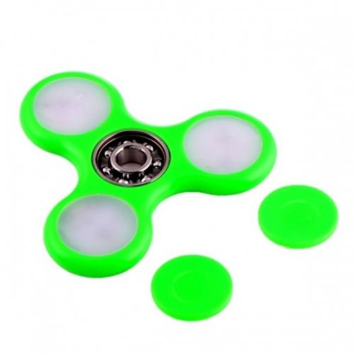 Спиннер с LED подсветкой светящийся плоская форма (Зеленый)