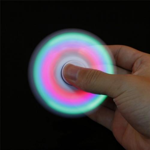 Спиннер с LED подсветкой светящийся выпуклая форма (Черный)