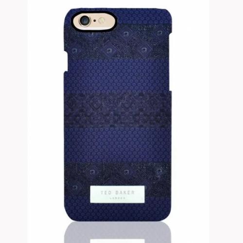 Пластиковый Чехол-накладка Ted Baker для iPhone 6 Синий принт