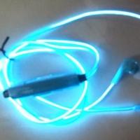 Светящиеся EL наушники GLOW Blue Синие
