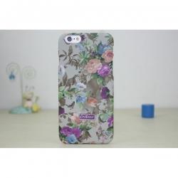Пластиковый Чехол-накладка Кэт Кидстон для iPhone 6 Цветы на сером