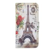 Чехол-книжка из натуральной кожи Париж I с отделами дкред. карт для iPhone 6 Белый