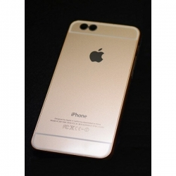 Пластиковый Чехол-накладка Superslim для iPhone 6 Золотой