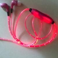 Светящиеся EL наушники GLOW Pink Розовые