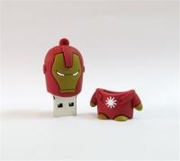 Usb Флэш-накопитель Железный человек (Красный) (4gb 8gb 16gb 32gb 64gb)